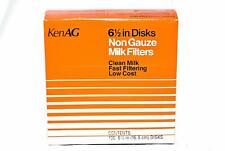 "6-1/2"" Milk Filter Disks Non-gauze 100pk, D110"