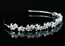 Sposa Matrimonio Ballo FIORI damigella sposa cristallo fascia per la testa Tiara