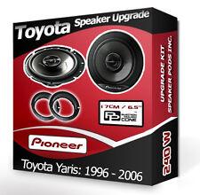 Toyota Yaris Puerta Frontal Parlantes Pioneer altavoces del coche + Adaptador Anillos vainas de 240 W