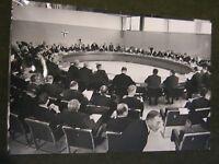 Original Pressefoto 24x18 cm von1968-Nato Meeting,Brüssel-Conferenes