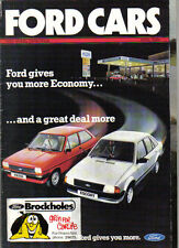 Ford Cars April 1982 Fiesta Escort Cortina Capri Granada Original UK Brochure