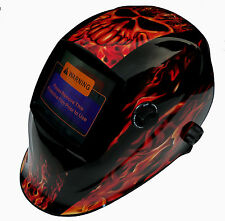 AUTO DARKENING WELDING HELMET WELDERS MASK H22 INFERNO Design