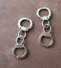 30 Handcuffs Charm Pendants Silver Metal Linked Jewelry Police 50 Shades of Grey