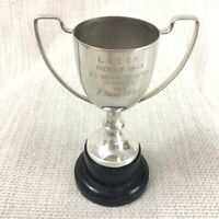 1960 Vintage Motor Car Rally Trophy Cup Camping and Caravan Club Silver Plated