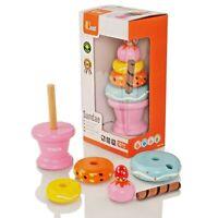 Viga Wooden Pink Ice Cream Sundae Set - Age 18 Months+ - BNIB - 51321