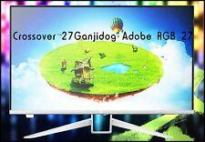 """Crossover 27Ganjidog Adobe RGB 27"""" 2560x1440 WQHD 75Hz Monitor+Remote"""