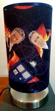 Bedside touch lamp night fabric shade Dr who tardis darlek phone box