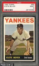 1964 Topps #69 Clete Boyer Yankees PSA 9 MINT