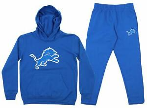 Outerstuff NFL Youth Detroit Lions Team Fleece Hoodie and Pant Set