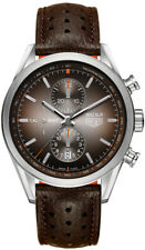 TAG HEUER CARRERA CAR2112.FC6267 300SLR MEN AUTOMATIC CALIBRE 1887 LEATHER WATCH