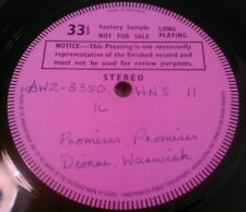 ** UK TEST PRESSING ** DIONNE WARWICK - PROMISES PROMISES LP AWZ-3350/1  WNS 11