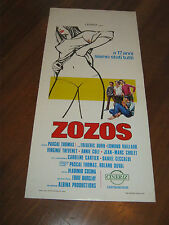 LOCANDINA,1972,ZOZOS,Pascal Thomas. Virginie Thevenet  Frédéric Duru,