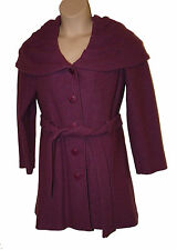 BNWT size 18 PER UNA SPEZIALE 100%  WOOL COAT MADE in ITALY in HEATHER PINK