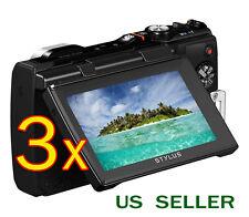 3x Olympus Tough TG-850 TG-860 iHS Clear LCD Screen Protector Guard Shield Film