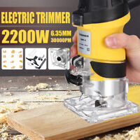2200W 1/4'' 30000RPM Electric Hand Trimmer Wood Laminate Palm Router Joiners Kit