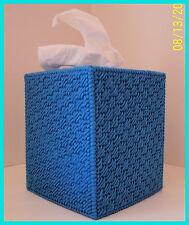 TURQUOISE BLUE NURSERY HANDMADE PLASTIC CANVAS TISSUE BOX COVER TOPPER
