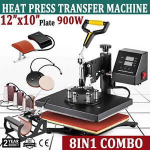 8 in1 Digital Heat Press Machine Combo Multifunctional Transfer Sublimation