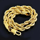 """Mnes 14k Solid Gold Filled Fashion Rope chain Bracelet 8.7"""" hip hop jewelry"""
