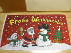Fahne Flagge Frohe Weihnachten Weihnachtsmann Schneemann - 90 x 150 cm