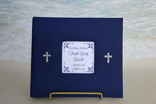 Custom Funeral Guest Book -Choice of Color- Church Memorial Cross Religious Sign