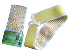 Natural Sisal Exfoliating Loofah Strip Shower Back Body Scrubber Cleaner Strap
