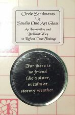 CIRCLE MIRROR FOR THERE IS NO FRIEND LIKE A SISTER Stained Glass Supplies