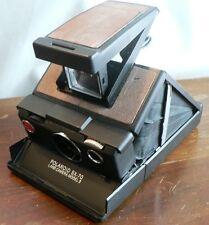 Vintage POLAROID SX-70 Model 3 Instant Film Land Camera w/ case Black and Tan