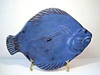 "Vintage Thora Ovenware Large Blue Fish Baking Dish 16"" Length 11"" Wide"