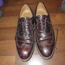 Johnston & Murphy Mens Cordovan Wing Tip Dress Shoes Size 12 D/B