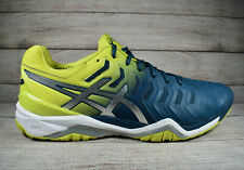 Asics Gel-Resolution 7 Tennis Shoes Blue Green Men's Size 13