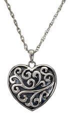 Heart Ash Holder Cremation Urn Keepsake Pendant Necklace Jewelry 950 Platinum