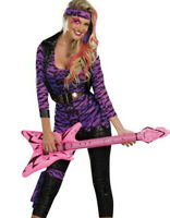 Rock Star Rocker Costume Top Shirt Leggings Lace Gloves 1980s Madonna 99067