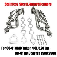 Exhaust Headers for 00-01 Gmc Yukon 4.8L 5.3L 99-01 Gmc Sierra 1500 2500