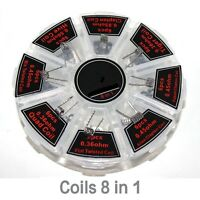 UTM 8 in 1 Kanthal Coils 48PCS PreBuilt Wire for RTA, RBA, RDA, RDTA | Clapton