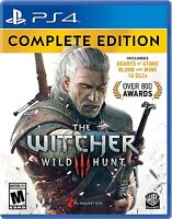 NEW Witcher 3: Wild Hunt -- Complete Edition (Sony PlayStation 4, 2016) PS4