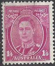 Australia 1938 1/4 DEEP MAGENTA KGVI Very Fine Used (CTO, no gum) SG 175a