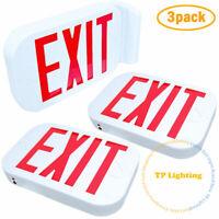 NEW Red Letter SMD LED Exit Emergency Sign Light / Battery Back-up / 3Pack