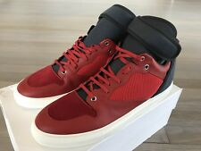 800$ Balenciaga Red Leather High Tops Sneakers size US 14 or EU 47 Made in Italy