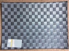 M&S BLUE RECTANGULAR PLACEMATS IN COATED PAPER WOVEN IN LINES -BNWT