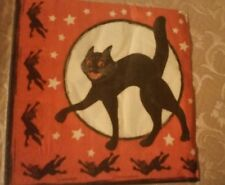 1PACKAGE-16 VINTAGE STYLE-BEISTLE-HALLOWEEN PAPER NAPKINS-BLACK🐱CATS-1928-REPRO