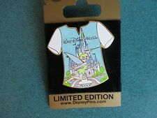 Disney WDW Gold Card T Shirt Series Tinker Bell Castle Pin  LE 1000