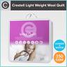 Crestell Wool Doona / Quilt 350gsm 100% Cotton Casing Light Weight Queen / King