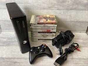 Microsoft Xbox 360 Slim 250GB with X12 Games Bundle Matte Black Console