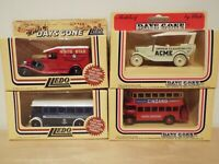 4 Lledo Days Gone Models: Acme, London & Burnley Bus + White Star Steamship Van