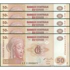 TWN - CONGO DEM. REP. 97 - 50 Francs 31/7/2007 UNC KC-U (G&D) DEALERS x 5