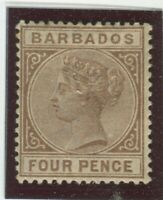 Barbados Stamps Scott #65 MINT,H,VF (X8402N)