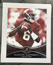 University of Alabama Blake Sims - Quarterback Print with Signature