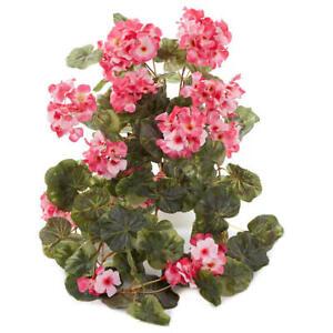 Factory Direct Craft Pink Artificial Cascading Geranium Bush