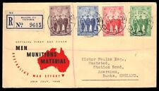 "AUSTRALIA - 1940 Men Munitions Material War Effort FDC ""Rialto, Victoria"""