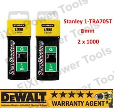 Stanley 1-TRA705T Heavy Duty Staples 2 x 1000 (8mm) STA1TRA705T NEW